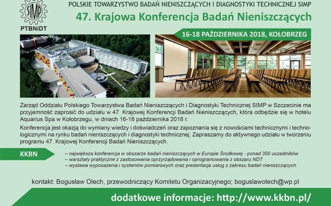 47. Krajowa Konferencja Badań Nieniszczących