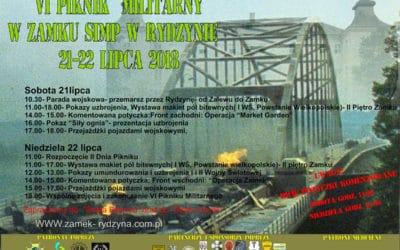 VI Piknik Militarny wZamku wRydzynie: 21-22 lipiec 2018.